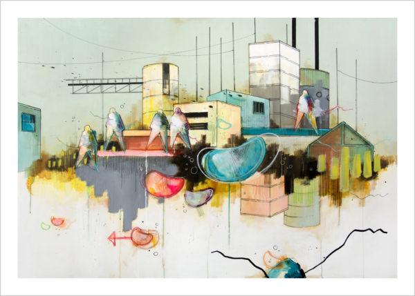 Casper Eliasen City Dreams Art Print 50 x 70 1.195 kr.