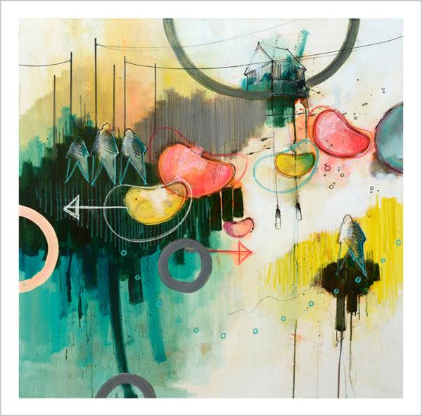 Casper Eliasen, Flying art print 50 x 50 cm. 995 kr.