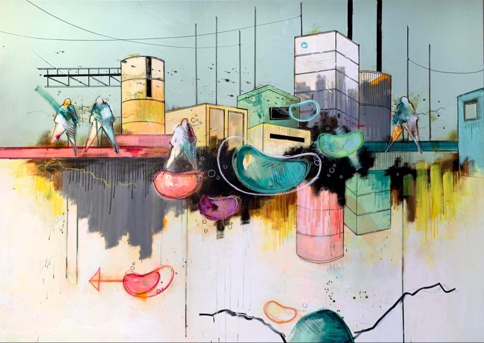 Casper Eliasen, City Life 100x140 cm, 19.000