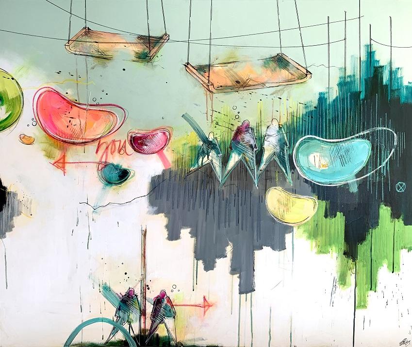 Casper Eliasen, Playtime 100x120 cm, 15.000 kr. - Bedre billede