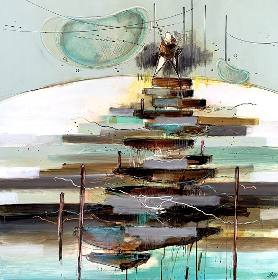 Casper Eliasen, Dreams 100 x100 cm. 13.000 kr.