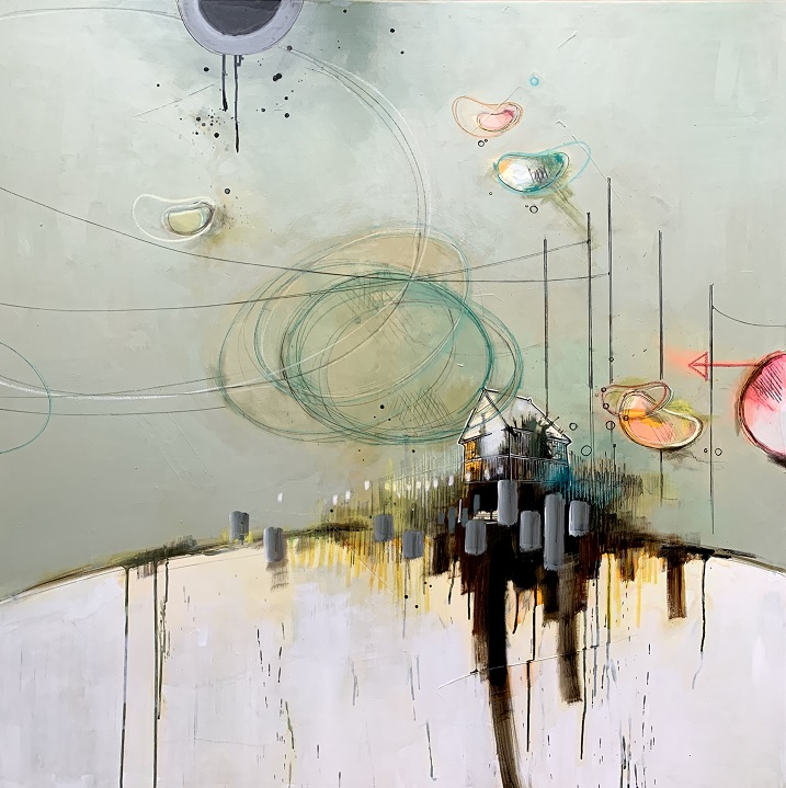 Casper Eliasen Magic Place 120x120 cm. 18.000 kr.