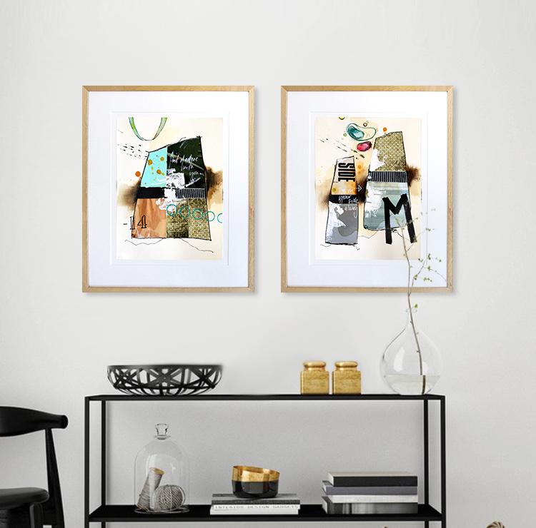 Casper Eliasen Collage på væg februar 2021 nr. 11 + 12