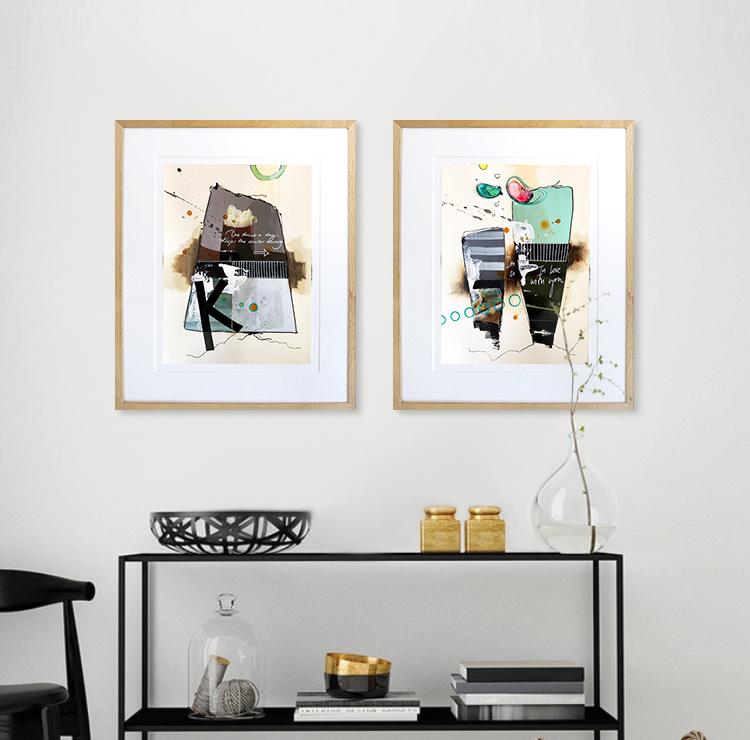 Casper Eliasen Collage på væg februar 2021 nr. 15 + 16