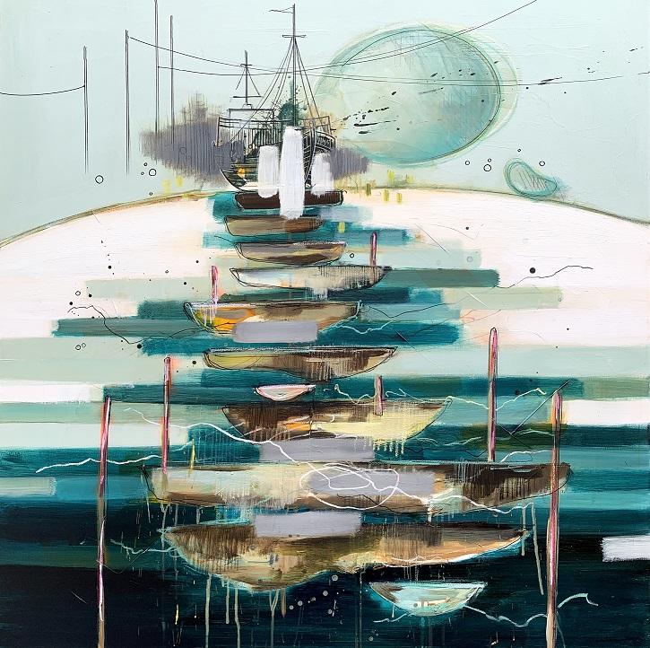 Casper Eliasen Unknown Sea 100x100 cm. 13.000 kr.