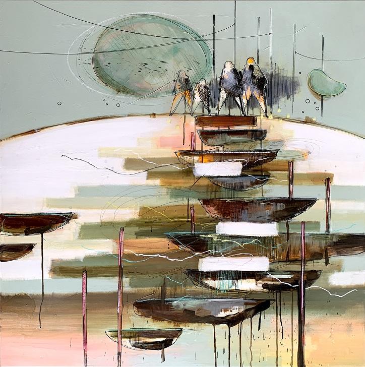 Casper Eliasen, Family 100x100 cm. 13.000 kr.