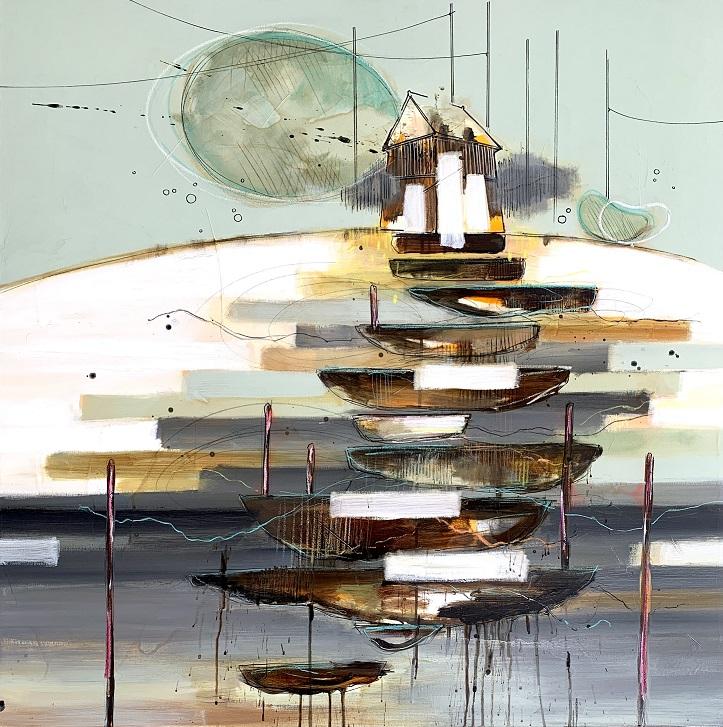Casper Eliasen, Steps In Life 100x100 cm. 13.000 kr.